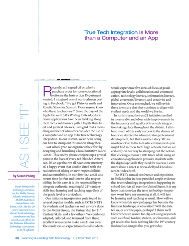 Learning and Leading - November 2011 - Page 46-47